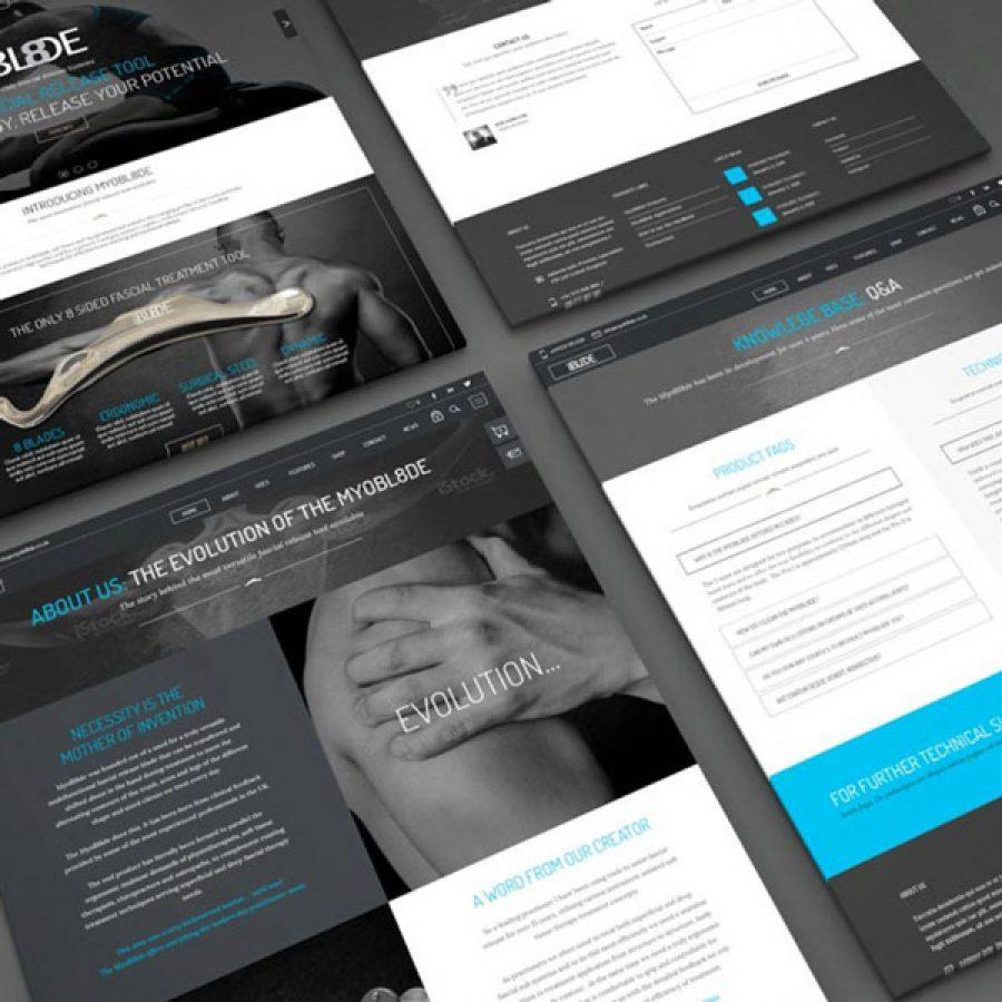MYOBL8DE Website, Print & Branding